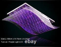 Modern Art Crystal Ceiling Fixture Lamps Chandelier 7 color LED Lighting Lights