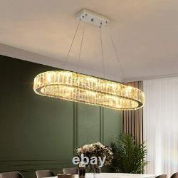 Modern Chandelier Large Crystal Led Ceiling Light Luxury Hanging Lamp Bedroom UK