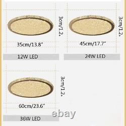 Modern Clear Crystal Glass Beads LED Round Ceiling Lights Flush Mount 35/45/60CM