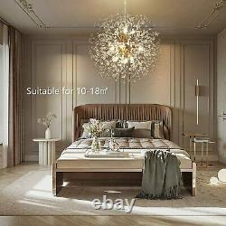 Modern Crystal Ceiling Lamp Chandelier 9 Light Pendant Lighting Kitchen Island
