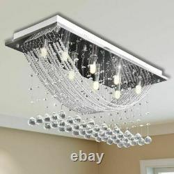 Modern Crystal Ceiling Lights Chandeliers Lamp Kitchen Living Room 8xG9 luxury
