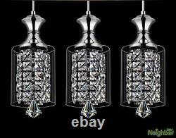 Modern Crystal Chandelier Ceiling Lights Pendant Lamp LED Lighting 3 Lights