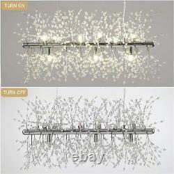 Modern Crystal Lighting Pendant Silver Chandelier 9 Light Firework Ceiling Lamp