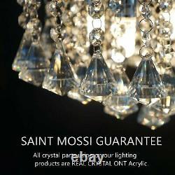 Modern Crystal Raindrop Room Chandelier Lighting LED Ceiling Light Fixture Lamp