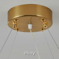 Modern Golden Ring Crystal Chandelier 3-LEDs Pendant lamp Ceiling light 50 cm