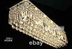 Modern K9 Crystal Pendant Light rectangle Ceiling Lamp Chandelier Lighting
