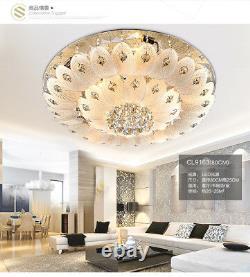 Modern K9 LED Crystal Chandelier remote control Pendant Ceiling Light lamp new
