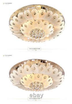 Modern K9 LED Crystal Chandelier remote control Pendant Ceiling Lighting lamps
