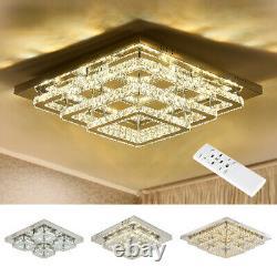 Modern LED Crystal Ceiling Lights Pendant Chandelier Lamp Living Dining Room