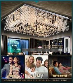 Modern LED K9 Clear Crystal Ceiling Light Pendant Lamp Chandelier Lighting