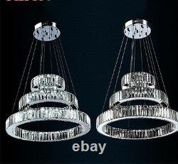Modern LED K9 Crystal 70x50x30cm Ring Ceiling Chandelier Pendant Light Fixtures