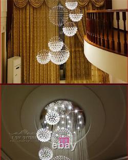 Modern Large DIA80CM Crystal Chandelier Lighting Raindrop Ceiling Light Fixtures