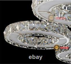 Modern Luxury LED K9 Crystal Ceiling Lamps Pendant Light Living Room Chandelier