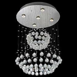 NEW Modern Contemporary 5-Light Rain Globe Crystal Ceiling Lamp Evrosvet LM-9149