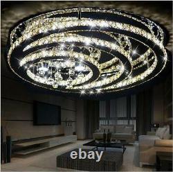 New LED Modern K9 Clear Crystal Ceiling Light Pendant Lamp Chandelier Lighting