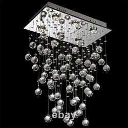 New Modern Raindrop Crystal Chandelier Ceiling Lamp Pendant Light Lighting LED