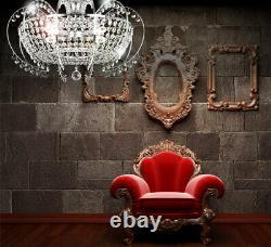 Noble crystal chandelier ceiling lamp lighting illumination classic for E14 Led