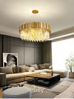 Raindrop Gold Modern Crystal Chandelier Luxury Pendant Ceiling Lighting Fixtures