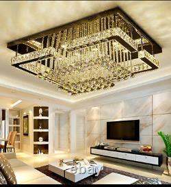 Rectangle Crystal Light LED ceiling lamp modern chandelier Diving room bedroom