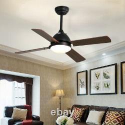 Remote Control Ceiling Fan Light 3/5 Blades Reversible Living Room Kitchen Decor