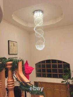 Romantic Spiral Sphere K9 Glass Crystal Chandelier Lighting Ceiling Light