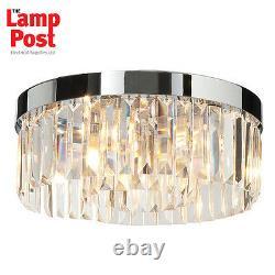 Saxby 35612 Crystal Bathroom Decorative Flush Ceiling Light IP44 220-240V