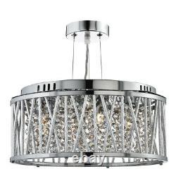 Searchlight 8333-3CC Elise 3 Light Crystal Ceiling Pendant Polished Chrome