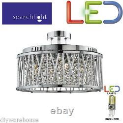Searchlight 8335-5cc 5 Led G9 Quality Light Ceiling Flush/pendant Fitting Chrome