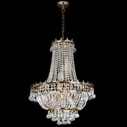 Searchlight 9 Lights Traditional Gold Crystal Ceiling Fitting Chandelier Light