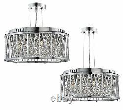 Searchlight Elise Range Designer Ceiling Pendant Light Crystal Drop Chandelier