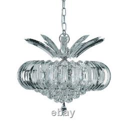 Searchlight Sigma 5 Lights Acrylic Chrome Frames Ceiling Fitting Chandelier New
