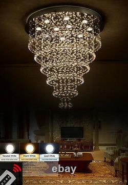 Spiral shape Crystal Chandelier Flush Mount Chandelier Ceiling Light Fixture #67