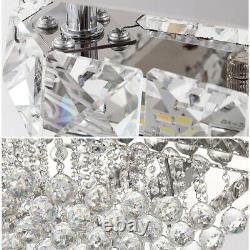 Square LED Crystal Ceiling Light Modern Living Room Bedroom Pendant Chandelier