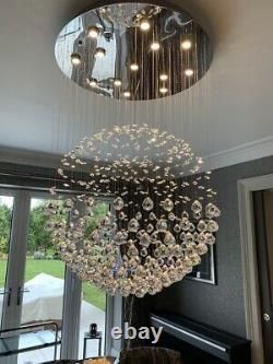 Stunning Excelsior Chrome & Crystal Ceiling Light / Chandelier by Dar Lighting