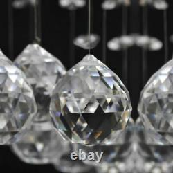 VidaXL Ceiling Lamp White with Glittering Glass Crystal Beads 8xG9 29cm Light