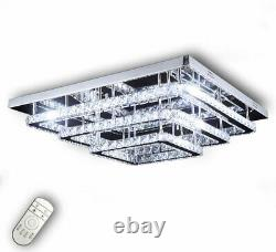 XXL Led ceiling lamp crystal chandelier remote dimmable luxury warm cold 40-70cm