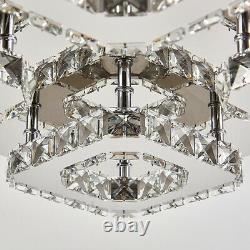 XXL Modern LED Ceiling Light Crystal Chandelier Lamp 20-70cm Living Room Bedroom