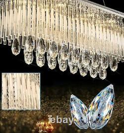3 Couleurs Dimmables + Télécommande Ctrl Bluetooth K9 Lustre De Lumière De Plafond En Cristal