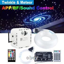 32w Twinkle Rgbw Fibre Optique Star Ceiling Kit Led Meteor Light 800pcs 4m 0.75mm