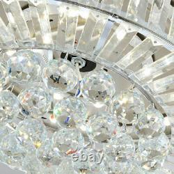 36/42 Moderne Plafond De Cristal Ventilateur Lumière Led Chandelier Télécommande 4 Lames