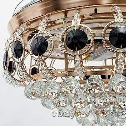 42crystal Ventilateur De Plafond Chandelier Invisible Blade Chandelier Avec Télécommande