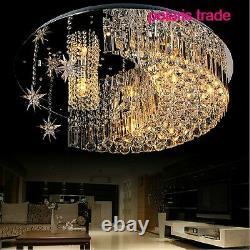 50cm Modern Moon+star Led Cristal Lobby Plafond Lumière Restaurant Pendentif Lampe