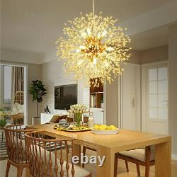 9 Lumières Dandelion Spoutnik Landelier Feux D'artifice Plafond Pendentif Led Fixation Or