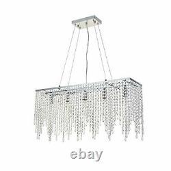 A1a9 Luxury Crystal Chandelier Plafond Lumières, Rectangle Moderne Raindrop Élégant