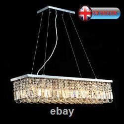 Aglow Int Modern Bar Plafond Pendentif Chandelier Raindrops K9 Cristal