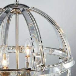 Bestier Pendentif Nickel Poli Chandelier Cristal Plafond Lumière