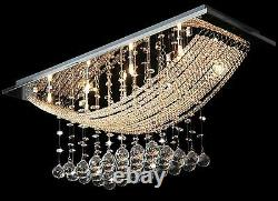 Chandelier Jewelled Plafond Lumière Raccord Cascading Crystals Drop Lamp Pendentif