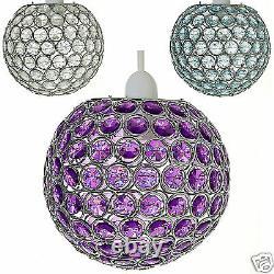 Chandelier Style Rond Pendentif De Plafond Light Shade Acrylic Crystal Droplet Perle