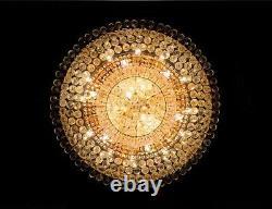 Cour Européenne Style K9 Clair Cristal Led Plafonniers Lustres Éclairage