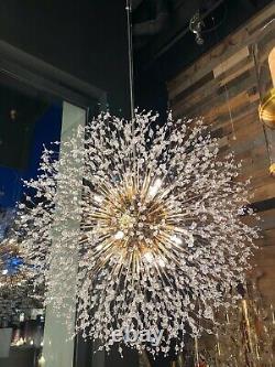Crystal Chandelier 16-light Plafond Lumière Modern Lighting Fixture Gold Vintage